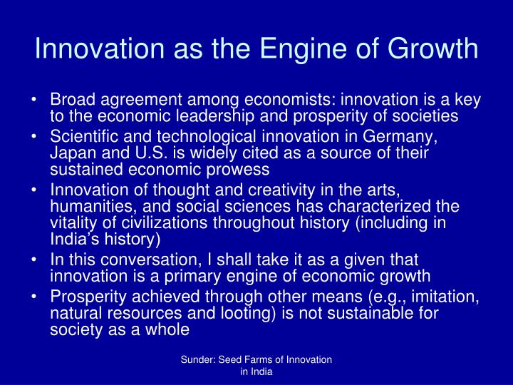 Innovation as the engine of growth