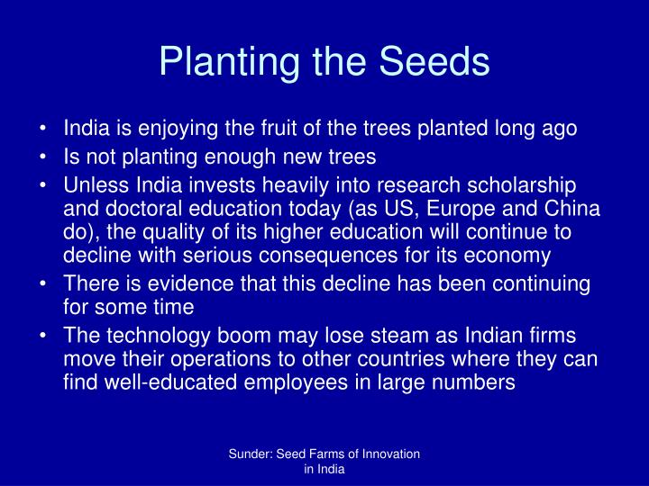 Planting the Seeds