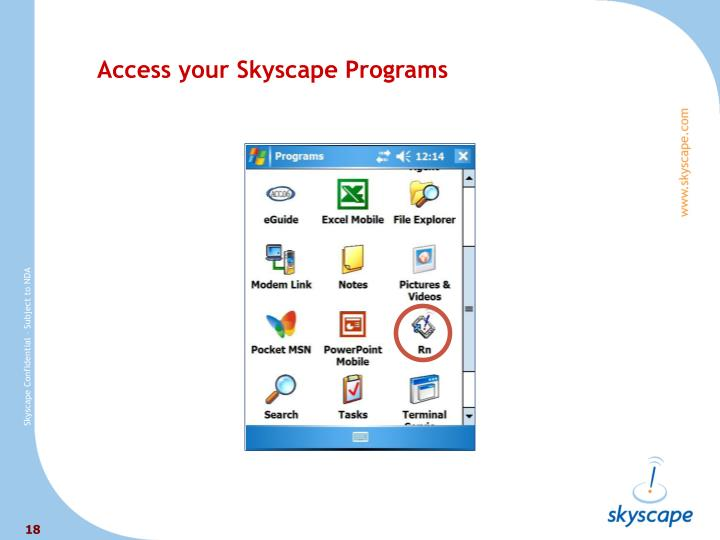 Access your Skyscape Programs