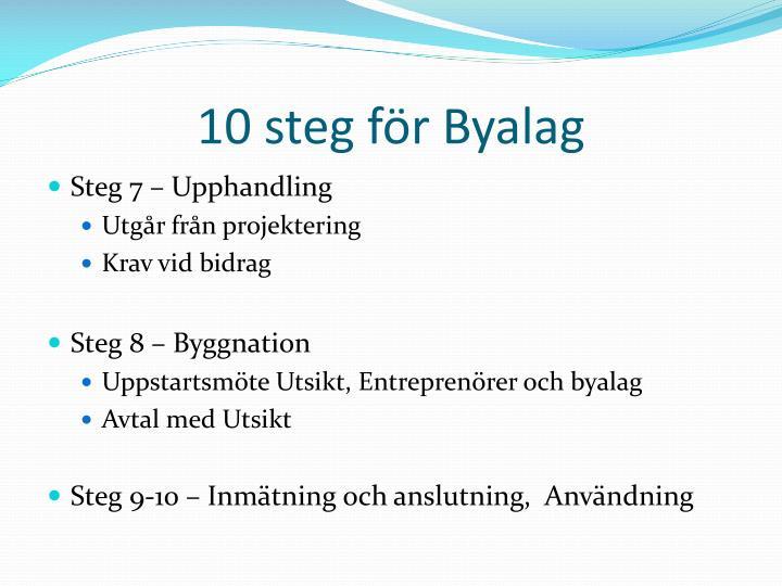 10 steg för Byalag