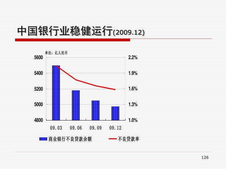 中国银行业稳健运行