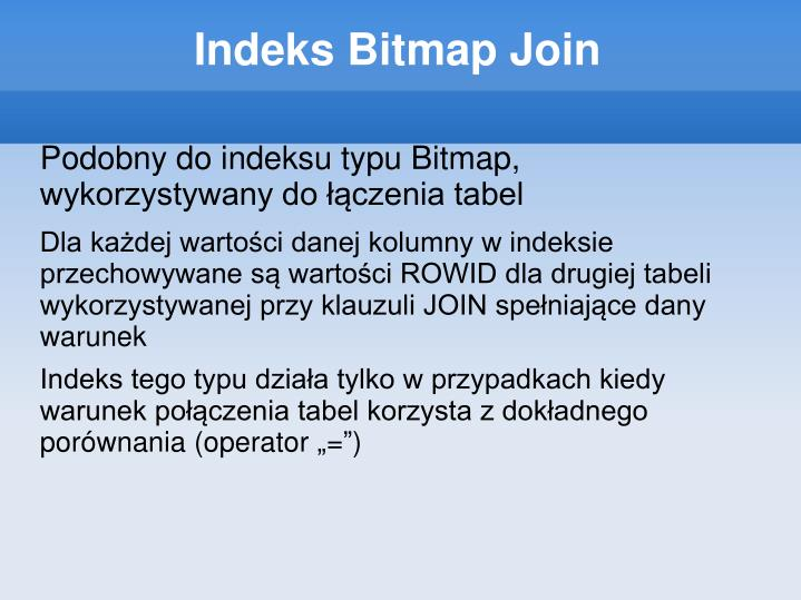 Indeks Bitmap Join