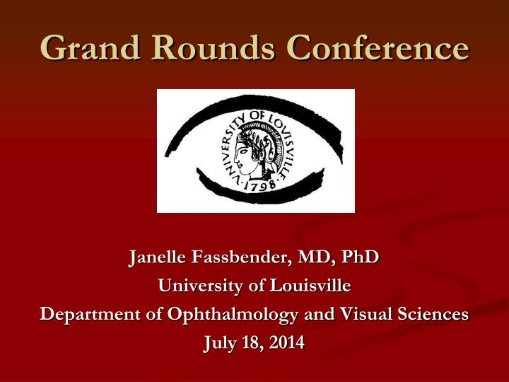 grand rounds conference n.