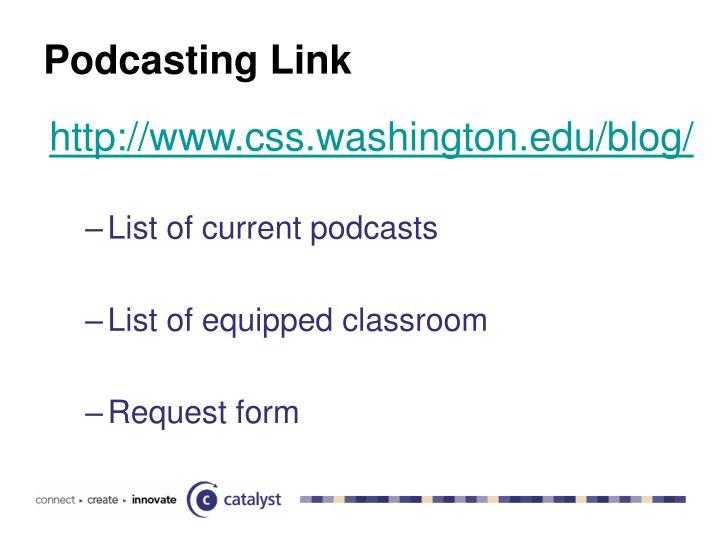 Podcasting Link