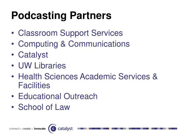 Podcasting partners