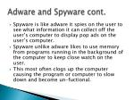 adware and spyware cont