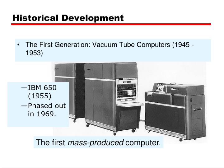 The First Generation: Vacuum Tube Computers (1945 - 1953)