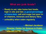 what are junk foods