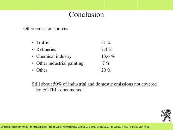 Other emission sources