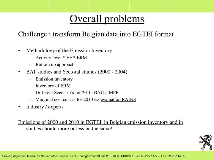 Challenge : transform Belgian data into EGTEI format