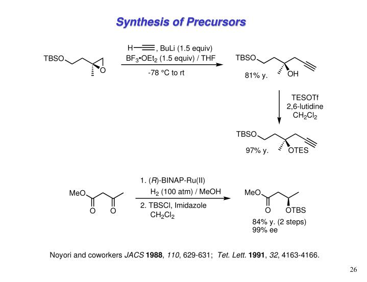 Synthesis of Precursors