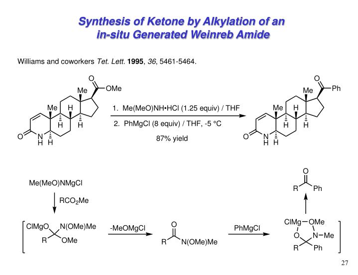 Synthesis of Ketone by Alkylation of an