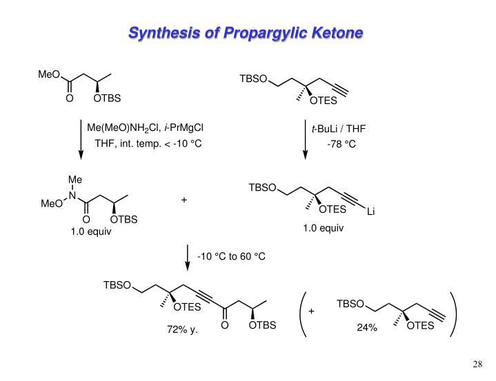 Synthesis of Propargylic Ketone