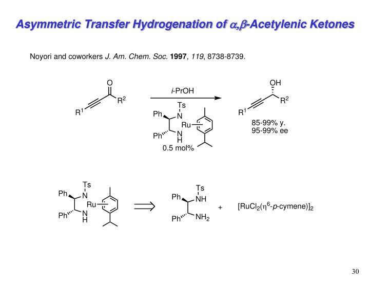 Asymmetric Transfer Hydrogenation of