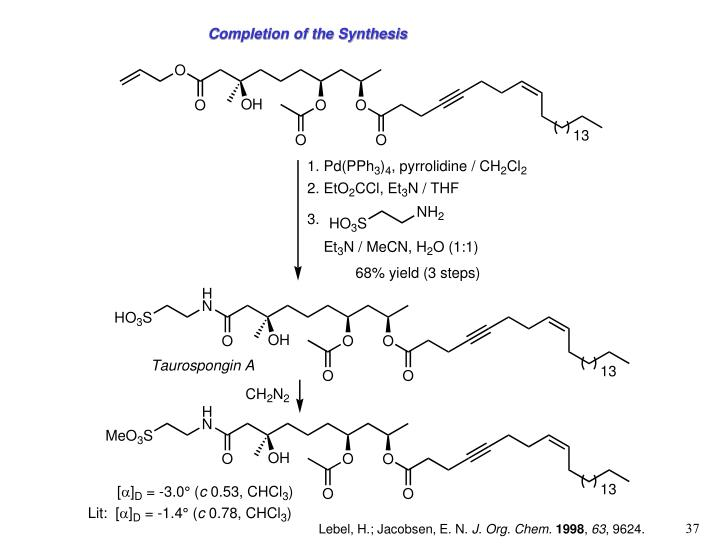 Completion of the Synthesis