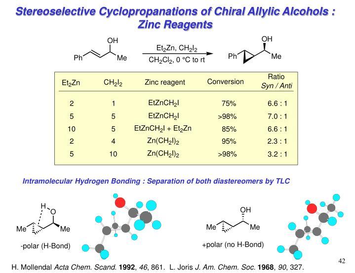 Intramolecular Hydrogen Bonding : Separation of both diastereomers by TLC
