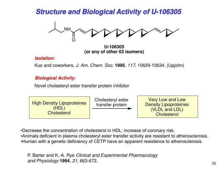 Structure and Biological Activity of U-106305