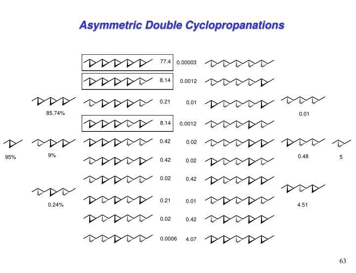Asymmetric Double Cyclopropanations