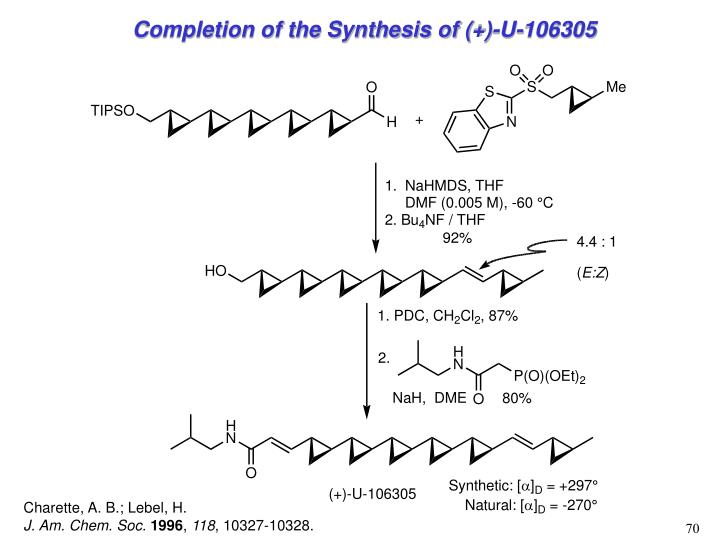 Completion of the Synthesis of (+)-U-106305