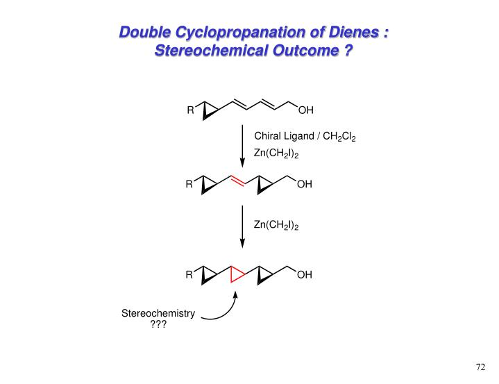 Double Cyclopropanation of Dienes : Stereochemical Outcome ?