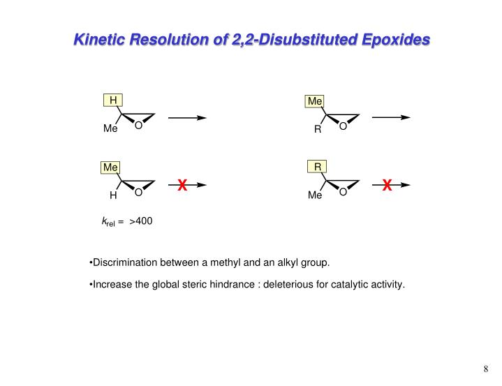 Kinetic Resolution of 2,2-Disubstituted Epoxides