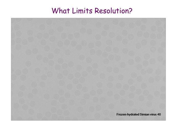 What Limits Resolution?