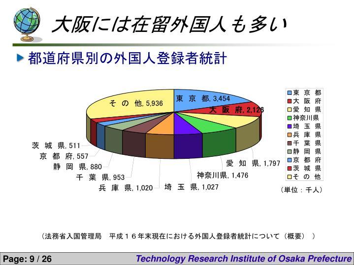 大阪には在留外国人も多い