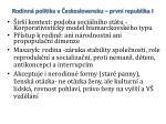 rodinn politika v eskoslovensku prvn republika i