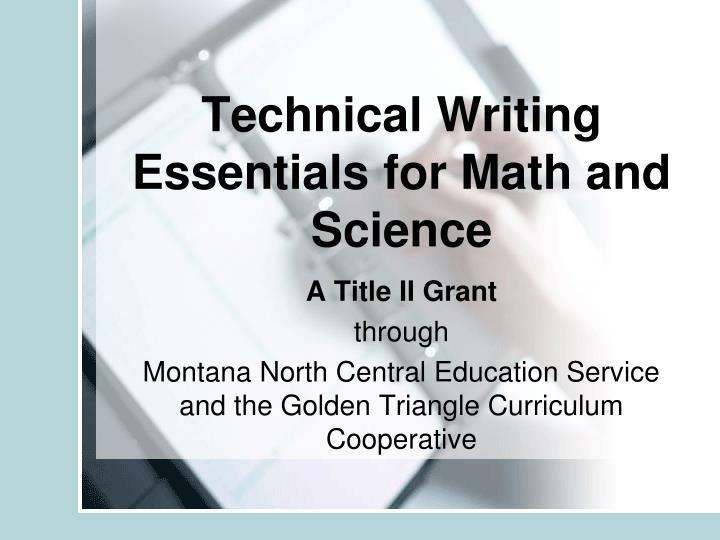 Technical writing essentials for math and science