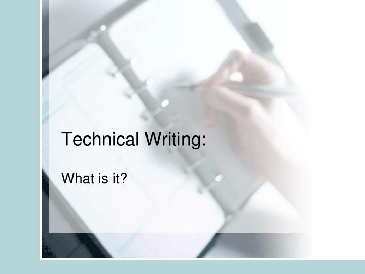 Technical Writing: