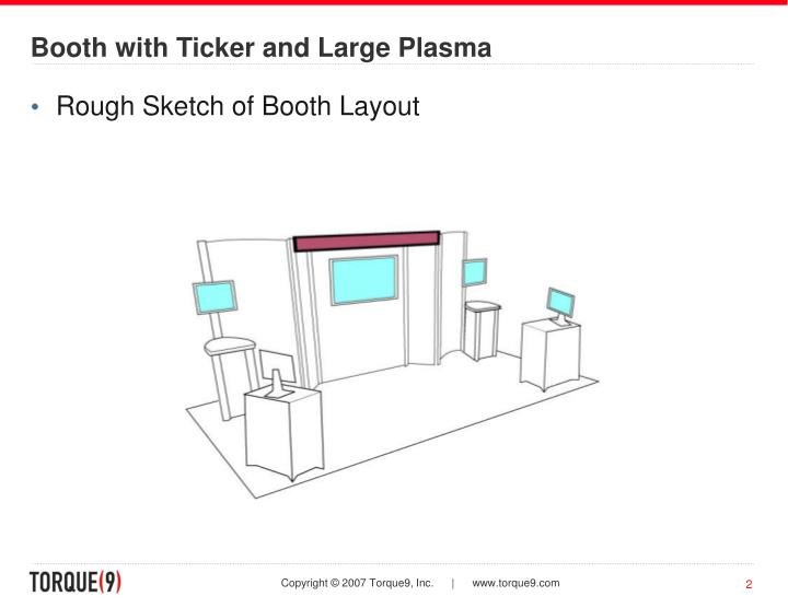 Booth with ticker and large plasma