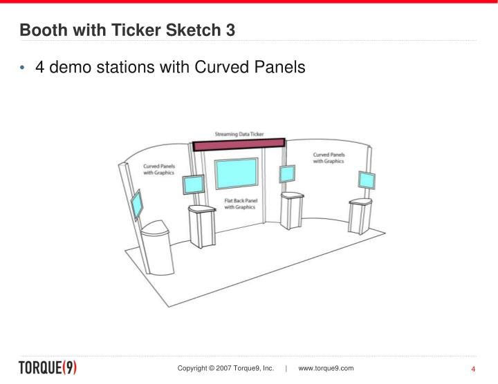 Booth with Ticker Sketch 3