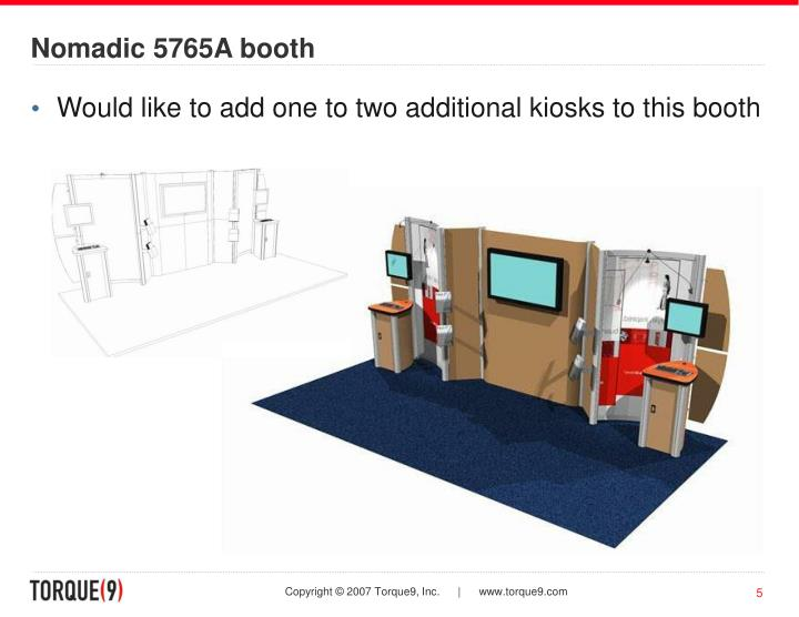 Nomadic 5765A booth