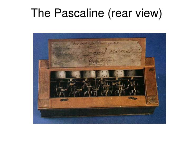 The Pascaline (rear view)