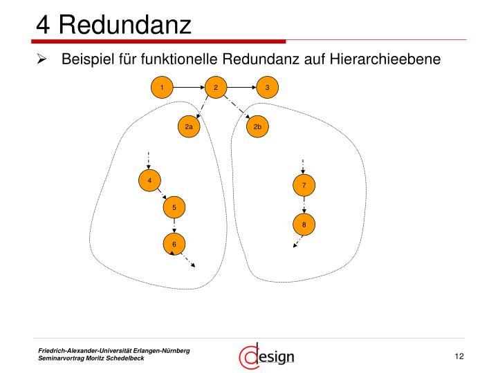 4 Redundanz