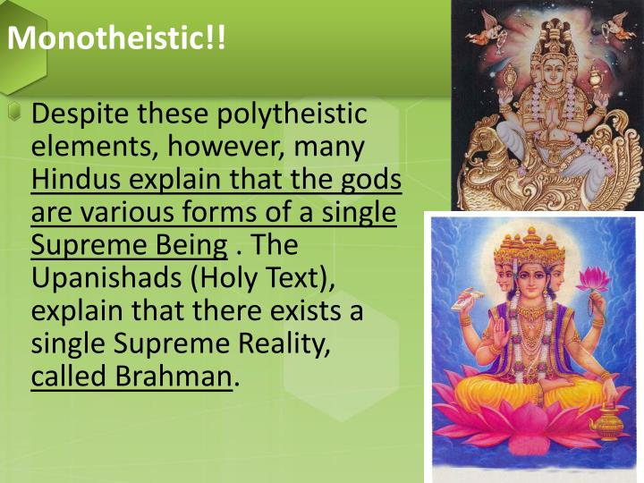 hinduism is polytheistic or monotheistic