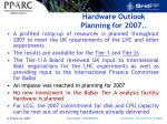 hardware outlook planning for 2007
