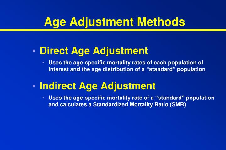 Age Adjustment Methods