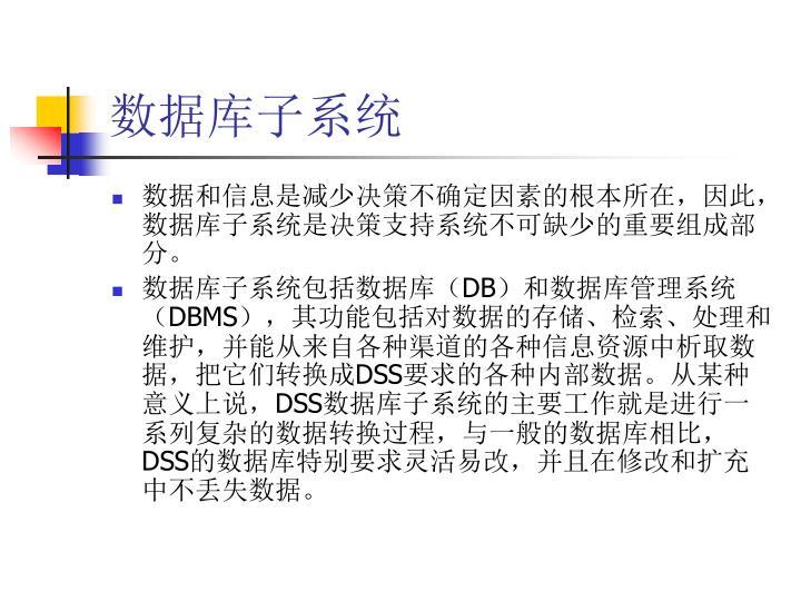 数据库子系统