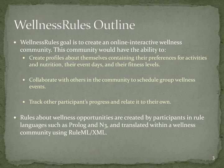 Wellnessrules outline