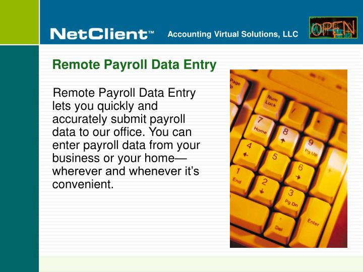 Remote Payroll Data Entry