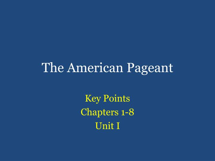 the american pageant n.