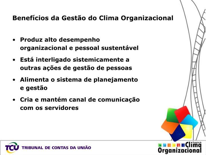 Benefícios da Gestão do Clima Organizacional