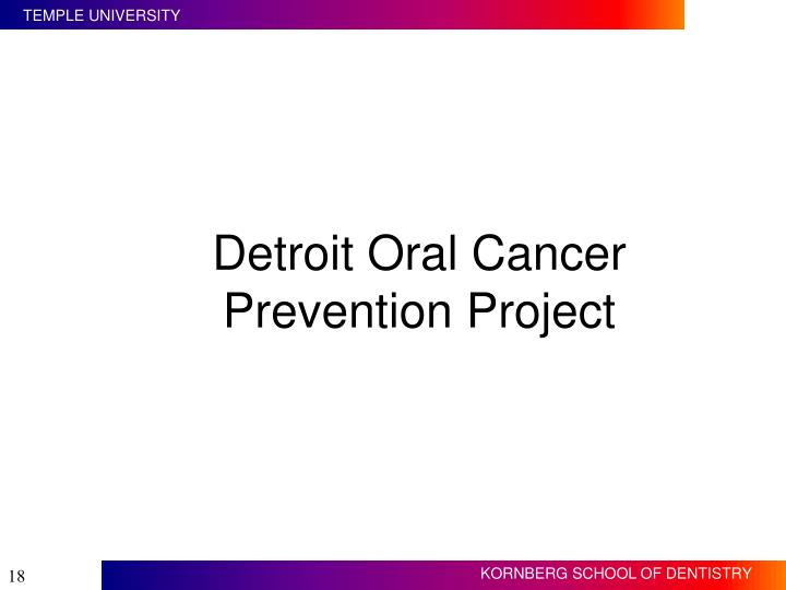 Detroit Oral Cancer Prevention Project