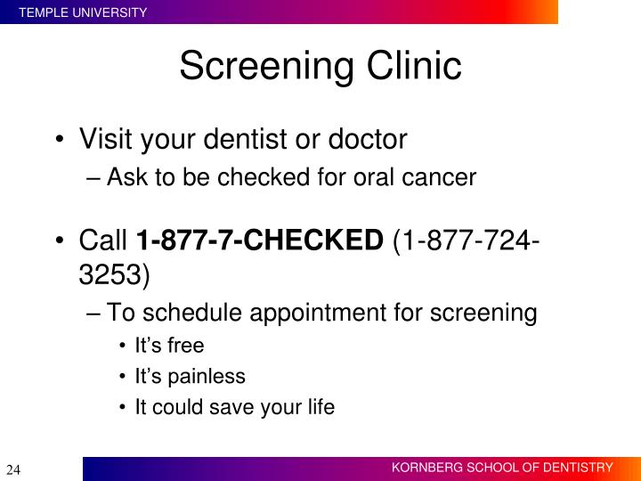 Screening Clinic