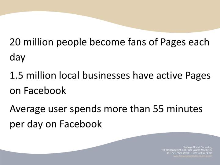 20 million people become fans of Pages each day