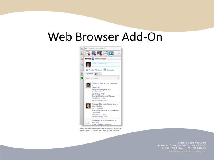 Web Browser Add-On