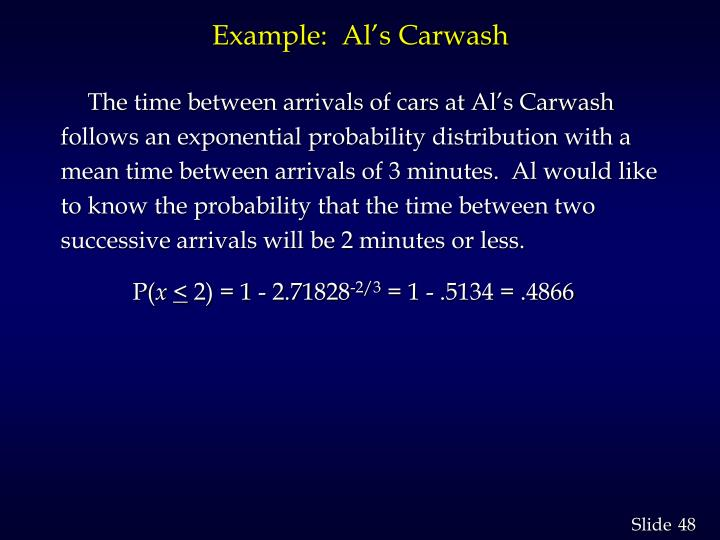 Example:  Al's Carwash