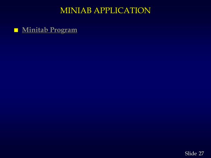 MINIAB APPLICATION