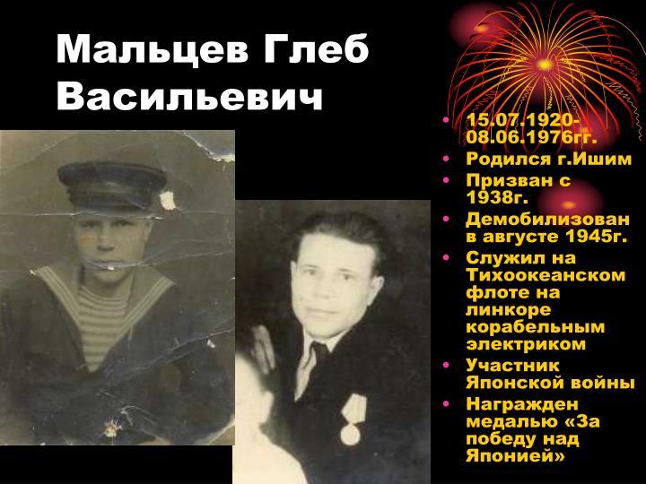 Мальцев Глеб Васильевич